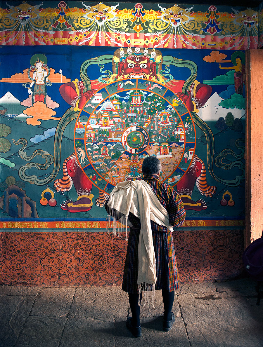 Wheel of Life, Paro Dzong - Photo Jens Kirkeby