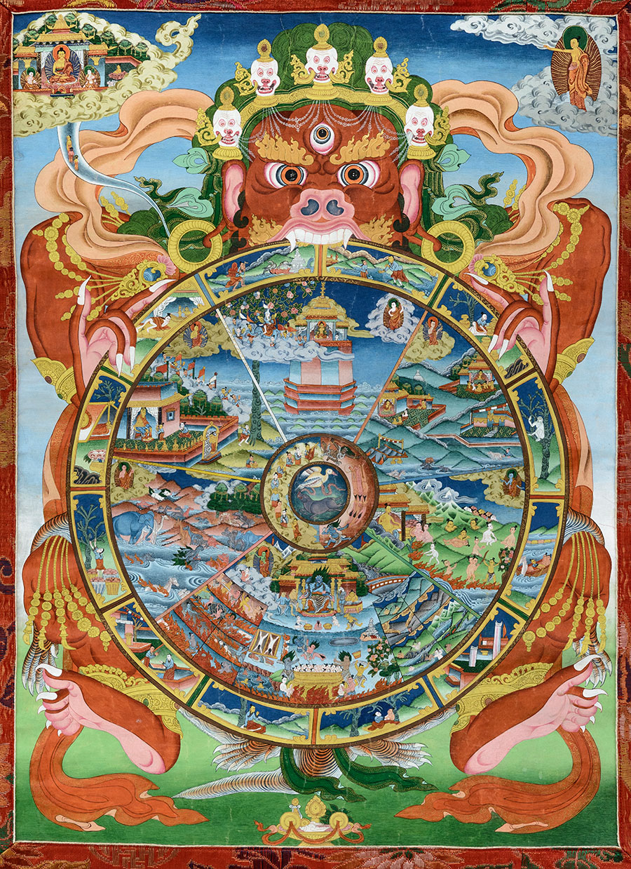 Buddhistic Wheel of Life - Sidpai Khorlo - Photo: Jens Kirkeby