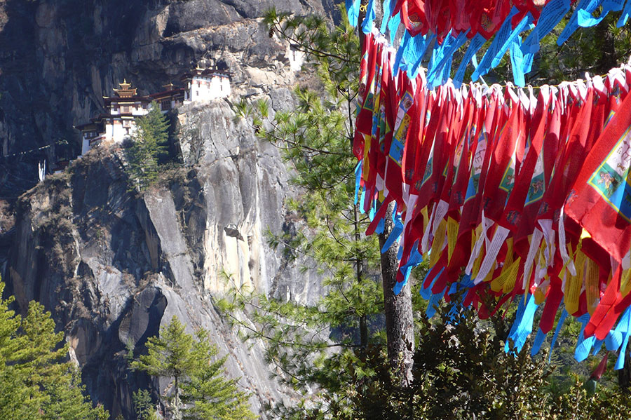 Prayer flags, Taktshang, Bhutan - Photo: Ditte Marie Seeberg