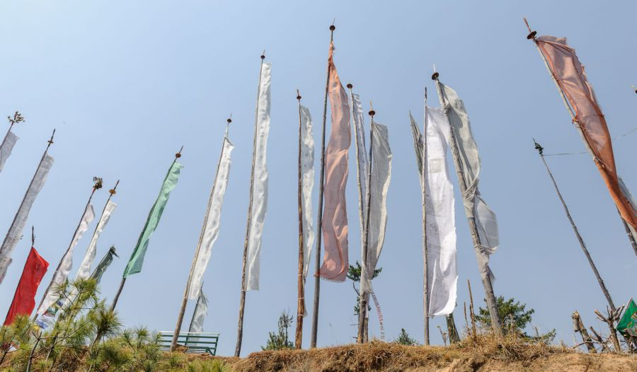 Prayer flags, Bhutan - Photo: Jens Kirkeby