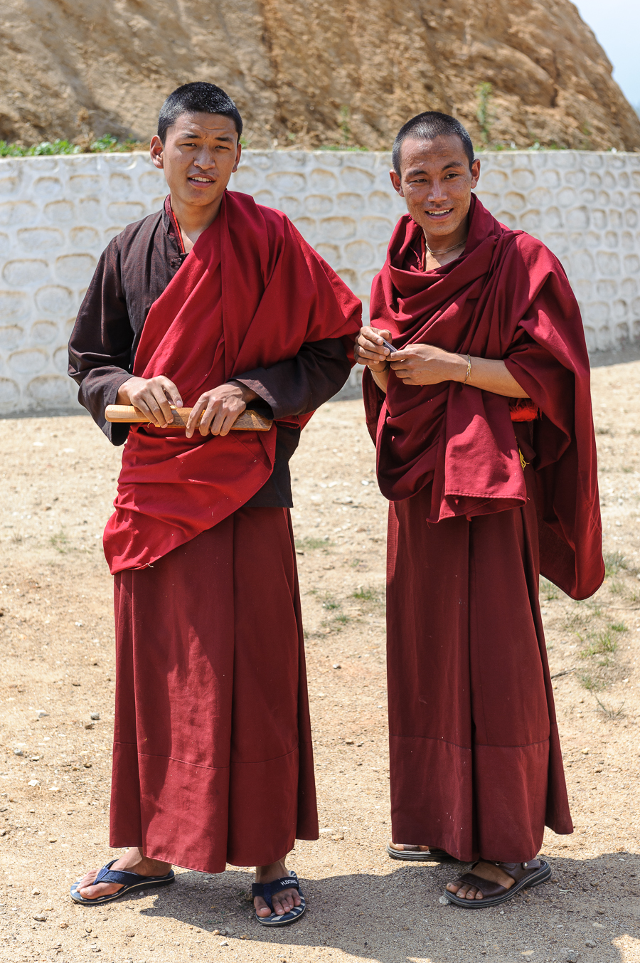 Young lamas at Sanchokhor Monastery, Paro, Bhutan - Photo: Jens Kirkeby